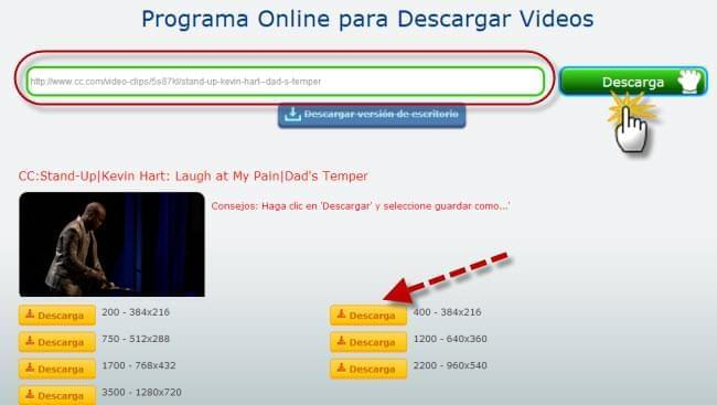 Online para Descargar Videos