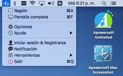 Crear capturas de pantalla en Mac